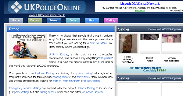 Anonymous deface UK Police forum and Dating Portal