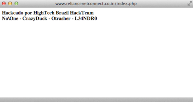 TopTV and Reliance Netconnect websites hacked by Brazilian hackers.docx